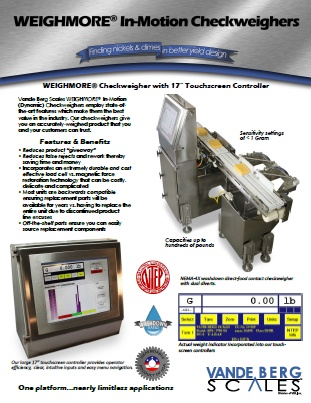 In-Motion Checkweigher Brochure