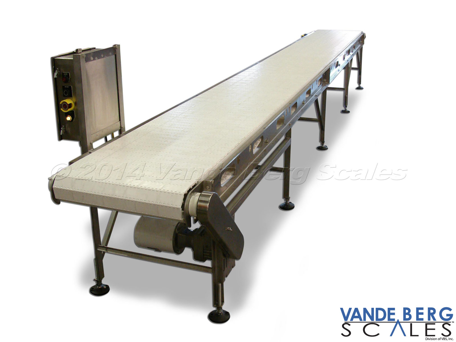 Easy to Clean Conveyor with modular plastic flat-top belting