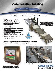 Automatic Labeling Systems Brochure