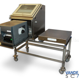 Mobile Manual Box Labeler with Roll-out Printer, Touchscreen HMI Interface and Scale