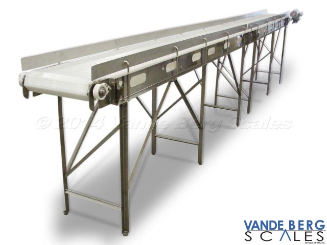 Easy-to-Clean Conveyor with Open Frame Design - Openings along the belting frame permit access to the undersides of the belt