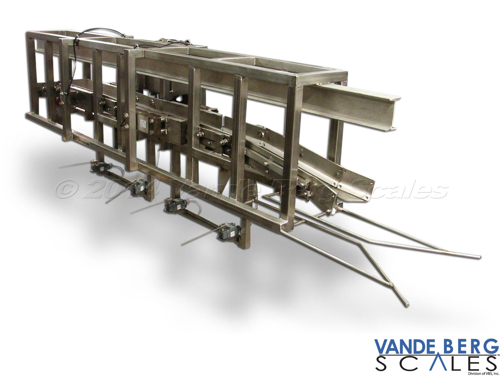Overhead Chain Scale designed specifically for In-Motion Hide Sorting