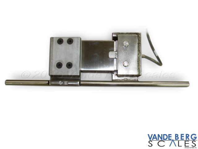 Top-down view of Static Monorail Scale showing single load cell with single cable.
