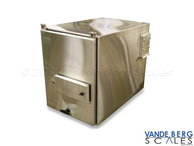 Stainless Steel Enclosure with Closed Label Access Door