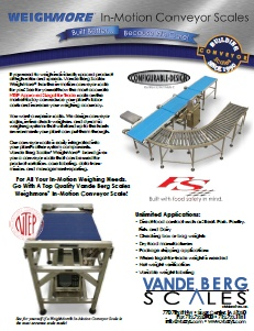 Conveyor Scales Brochure