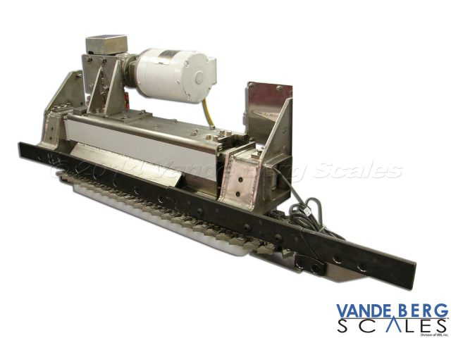 Meat-rail side of the High Accuracy In-Motion Monorail Scale