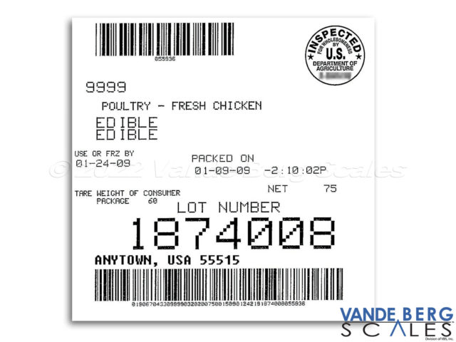 Barcodes and other valuable information can be easily printed with our systems