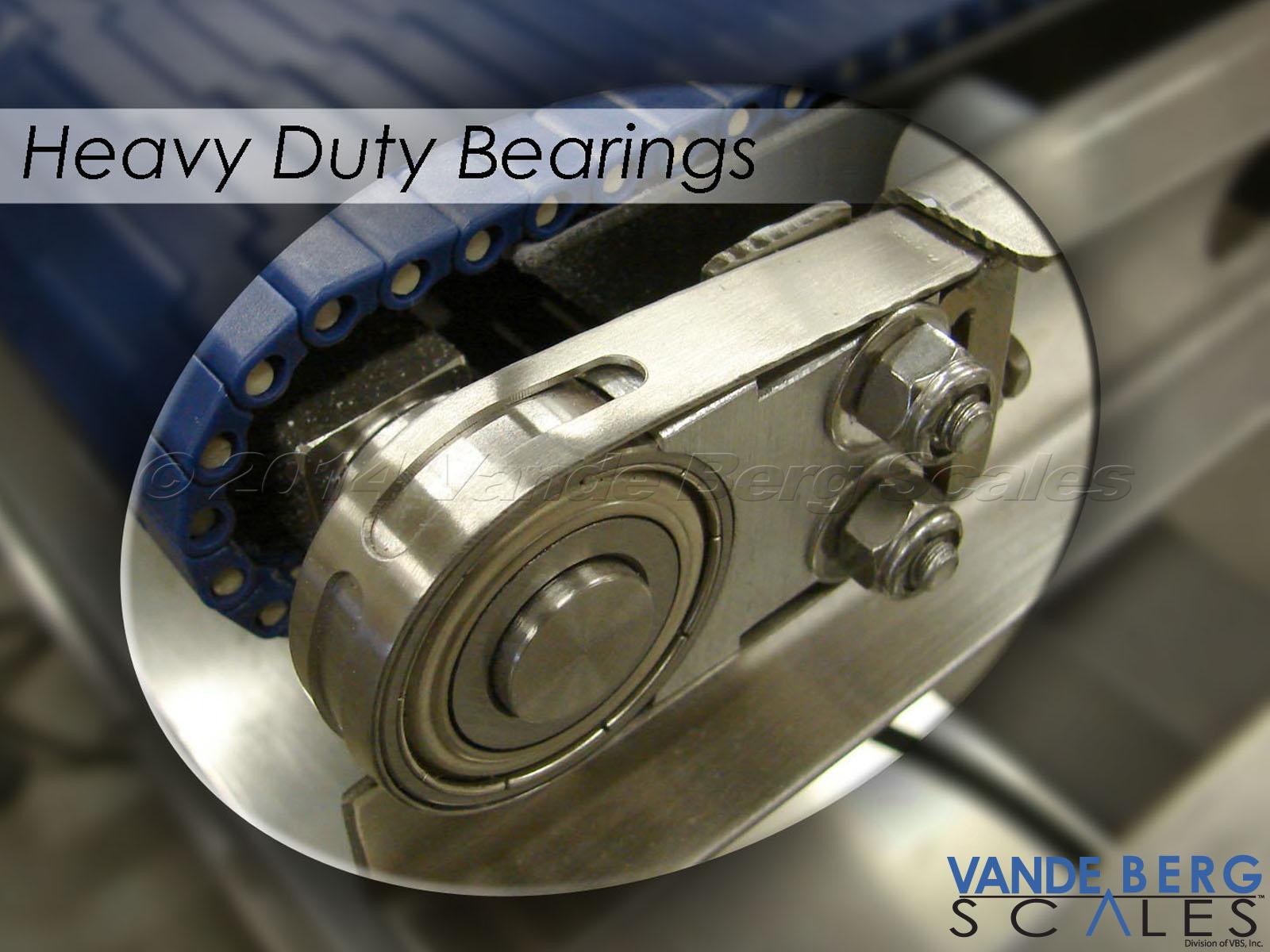 Heavy-duty bearings provide long service life