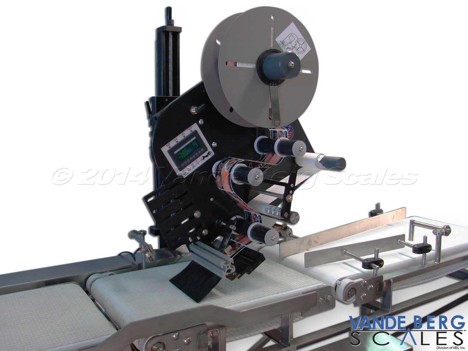 Top and Bottom Labeler with product guides & brush applicator