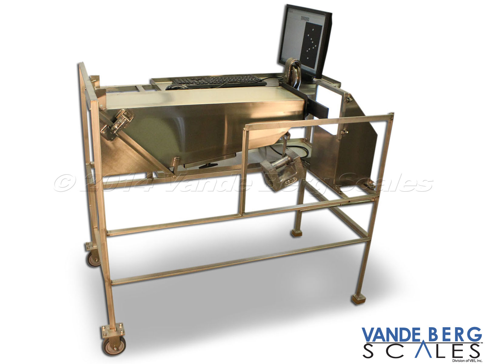 Portable Trolley Vision® carcass tracking training/maintenance repair station
