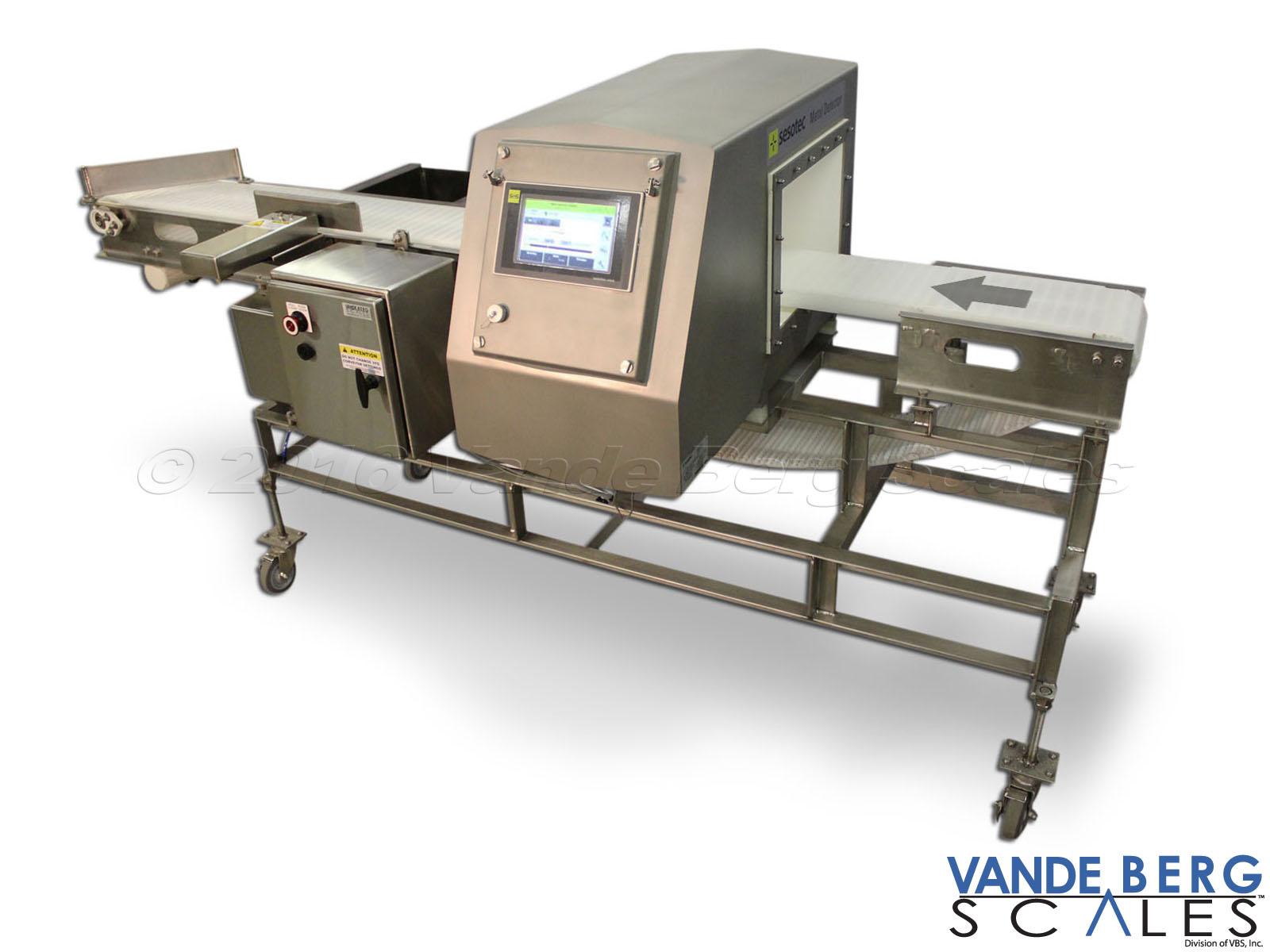 metal detector with divert metal detectors for food processing lines