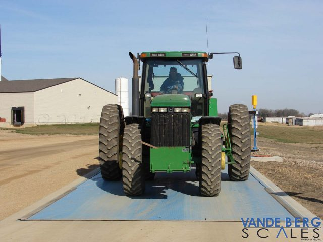 Tractors with duals can easily fit onto our wide scales.