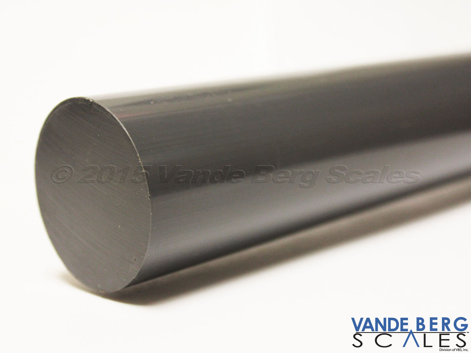 Solid plastic rollers are milled out on each end to allow for the bearing inserts.