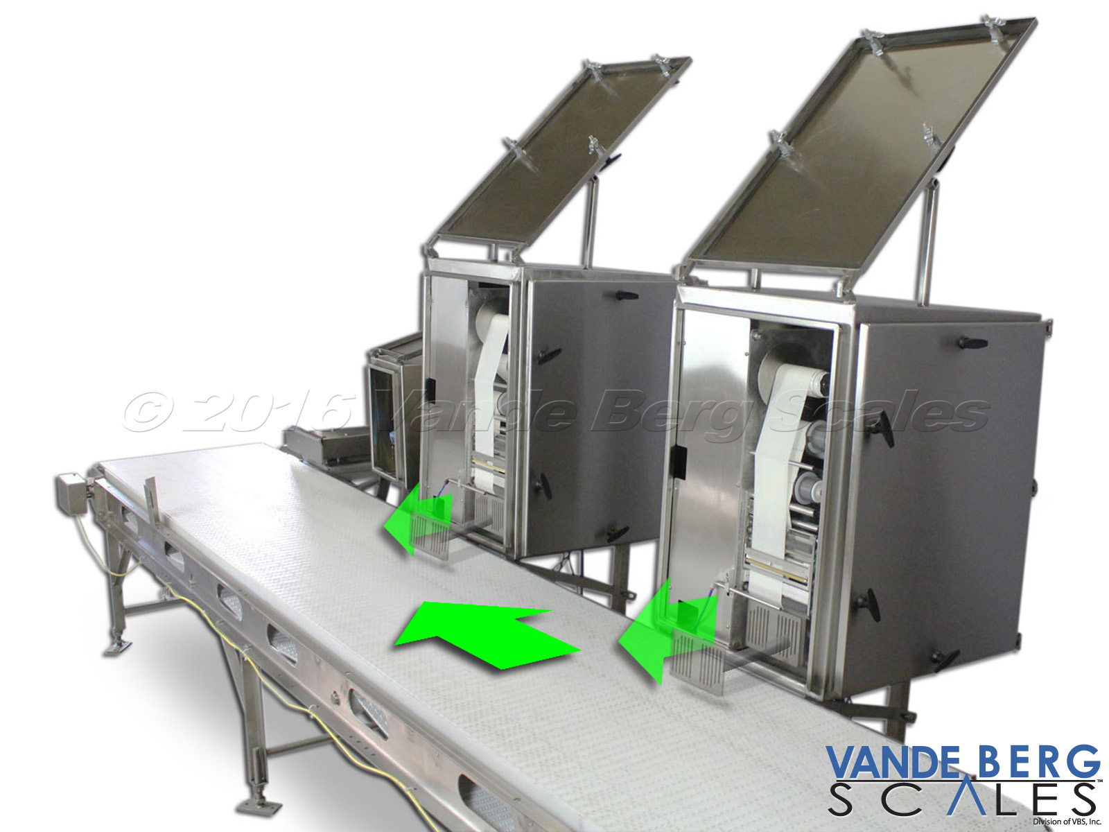 Dual Label printer-applicators enable high capacity throughput, or two different labels applied to a common side.