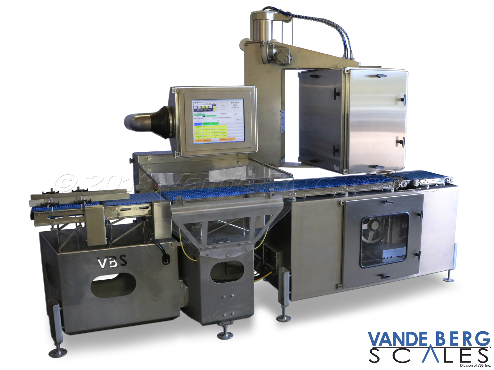 The industry's first washdown-rated weigh-price labeler.  Unit has 1 top and 1 bottom printer/applicator.