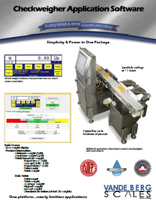 Checkweigher Application Software PDF