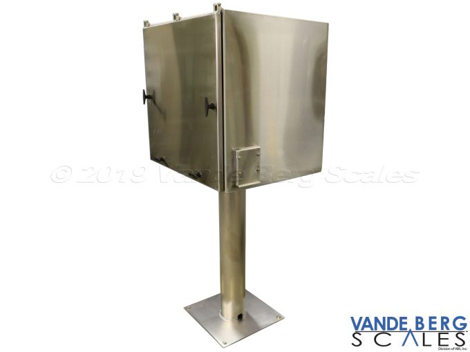 Any enclosure can be mounted on a SS pedestal and fastened to the ground for stability.