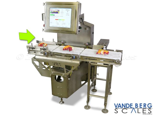 "Dynamic checkweigher with 17"" extended touchscreen and push divert"