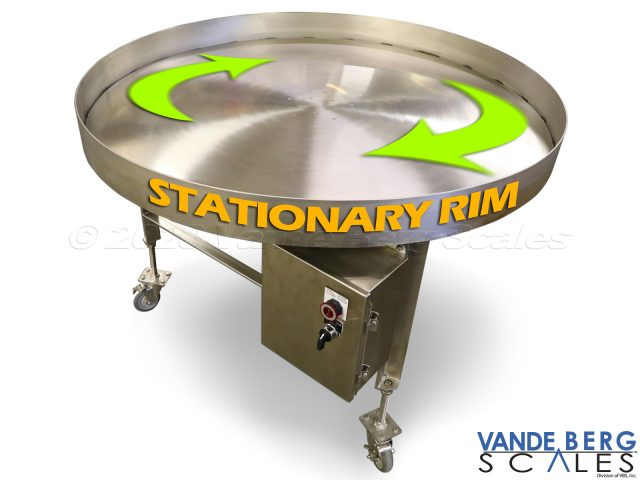Optional Rotary Accumulation Table with Stationary Rim