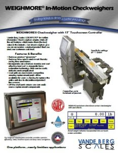 In-Motion Checkweighers PDF Brochure